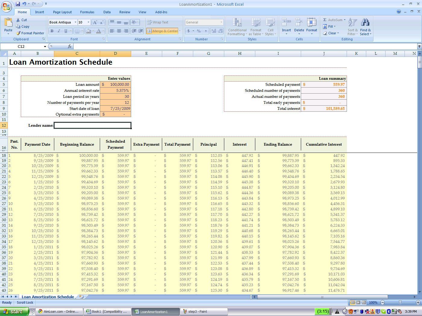 Full Size of Amortization Calculator Excel Spreadsheet
