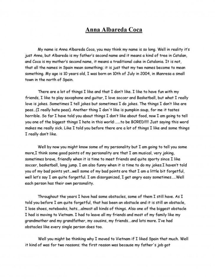 Medium Size of How To Write A Biography Essay About Yourself Sample