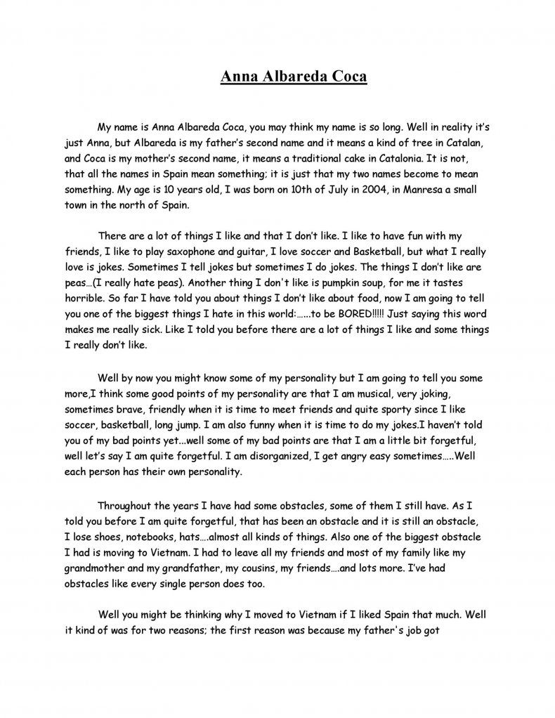 Full Size of How To Write A Biography Essay About Yourself Sample