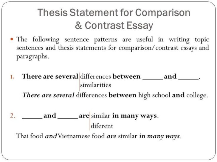 Free Compare And Contrast Essay Examples Point By