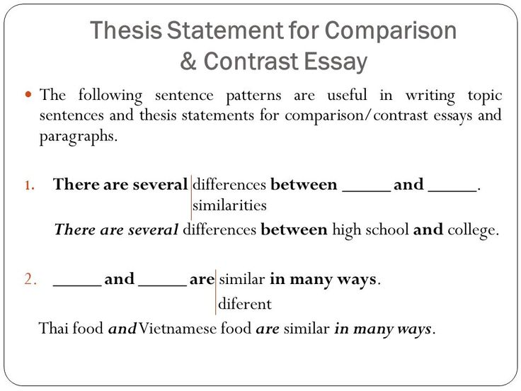 Full Size of Free Compare And Contrast Essay Examples Point By