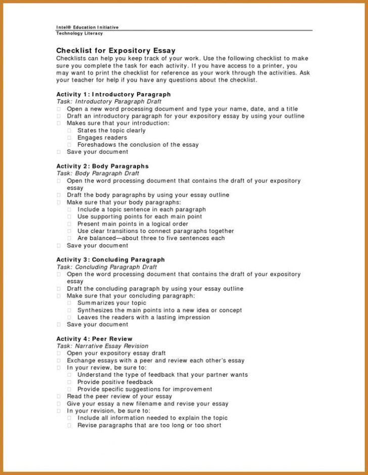 Expository Essay Outline College