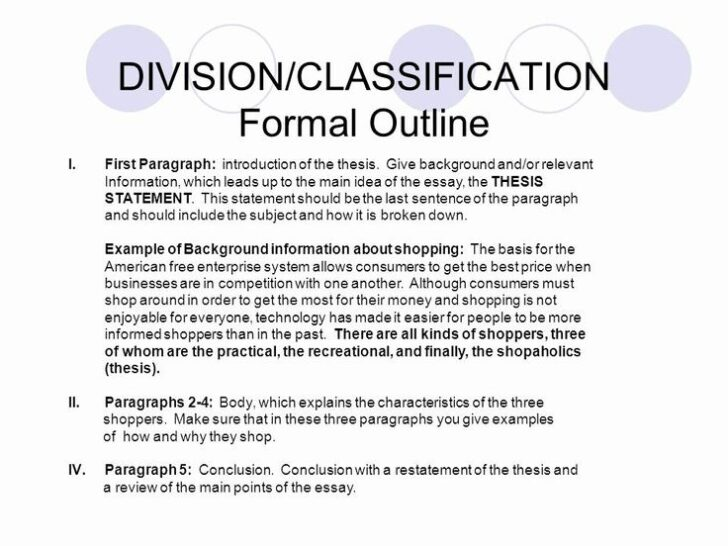 What Is A Classification Essay Example