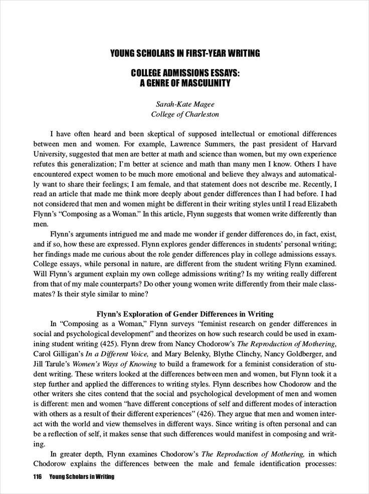 Full Size of Profile Essay Example For College