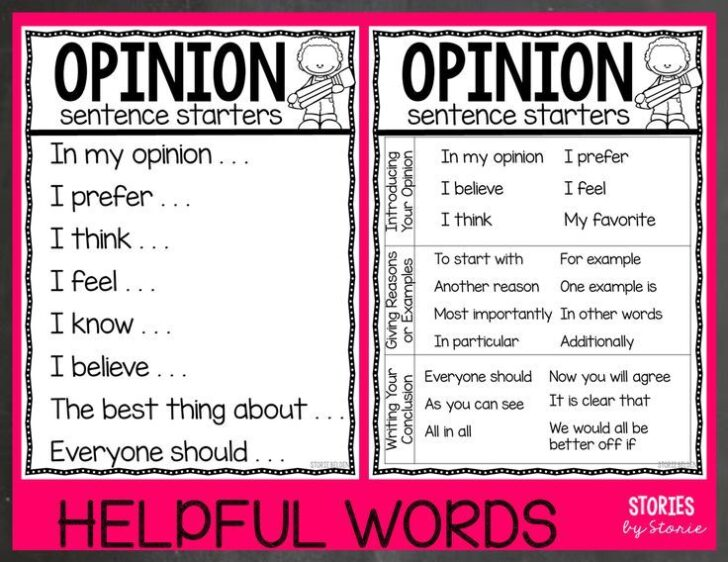 How To Start An Opinion Essay Example