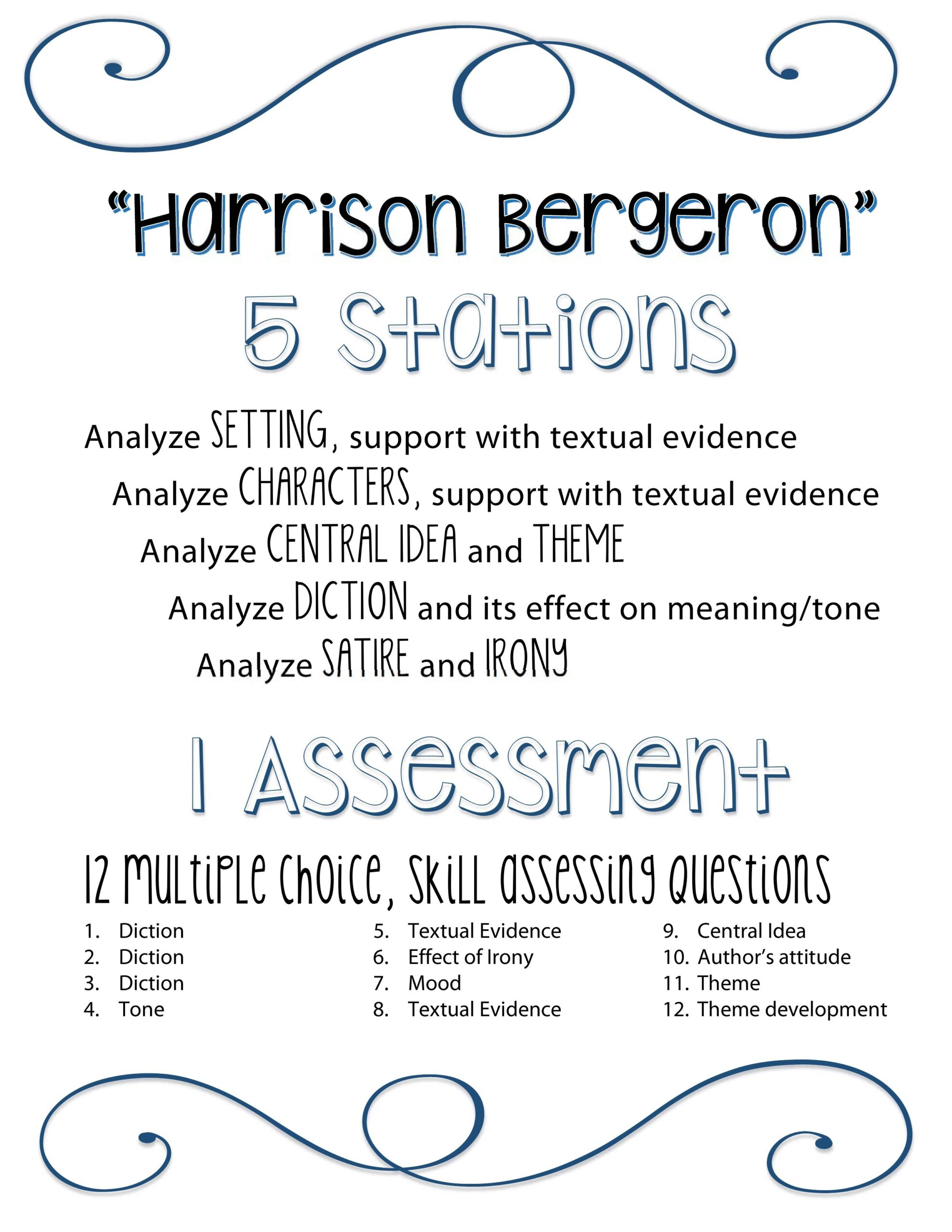 Full Size of Harrison Bergeron Essay Questions