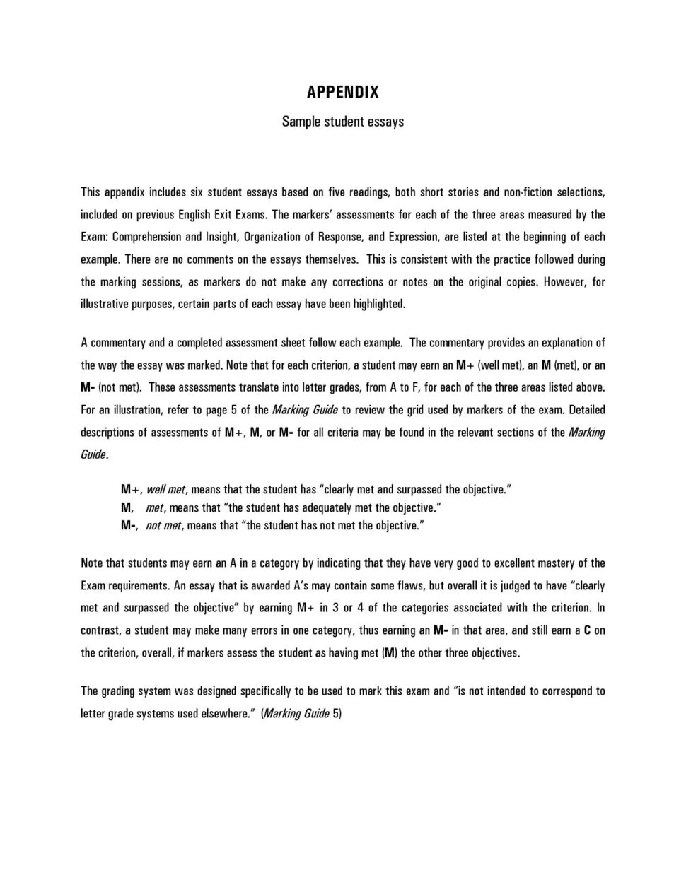 Large Size of High School Student Essay Examples
