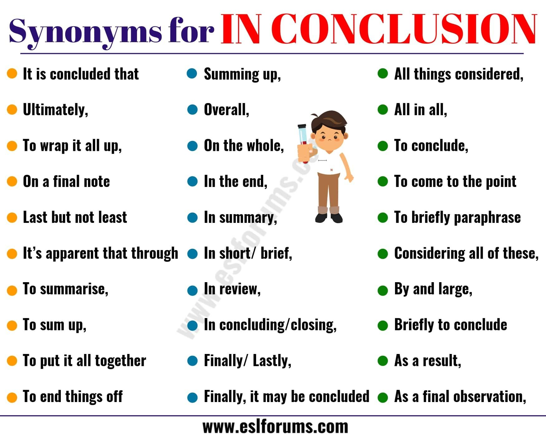 Full Size of What Are Other Words For In Conclusion Essay