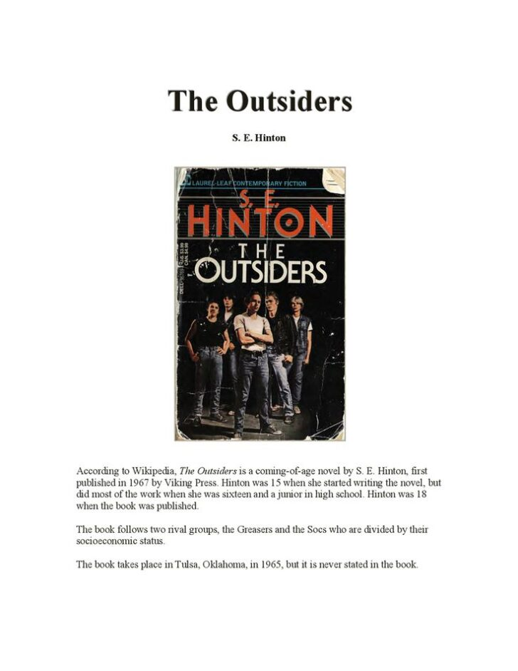 The Outsiders Essay Pdf
