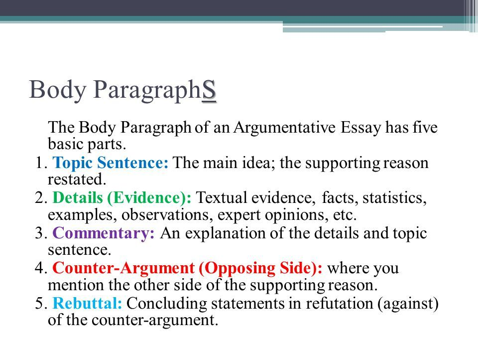 Full Size of Argumentative Essay Body Paragraph Example