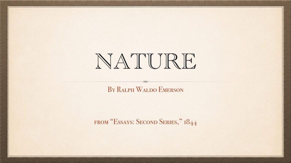 Large Size of Emerson Nature Essay Summary