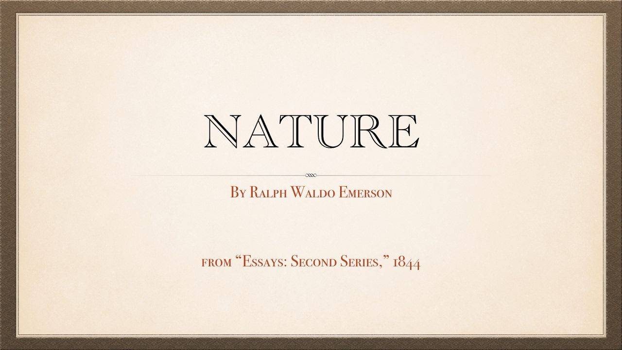 Full Size of Emerson Nature Essay Summary