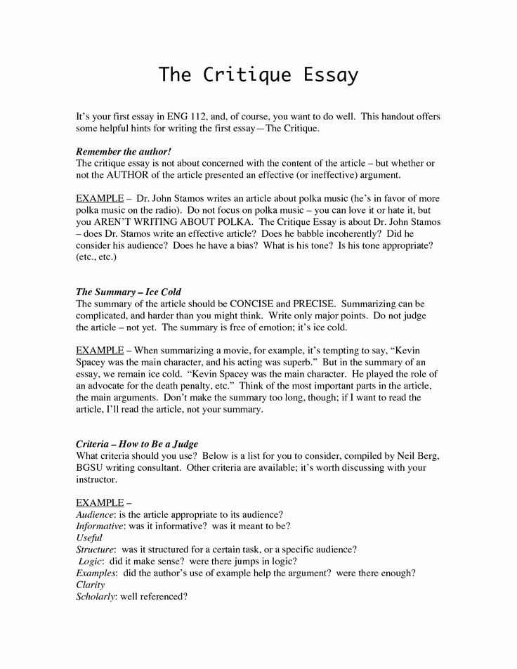 Full Size of Critique Essay Thesis Examples