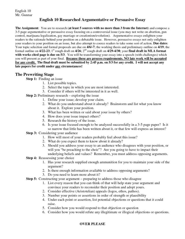 How To Write A Persuasive Essay In Mla Format