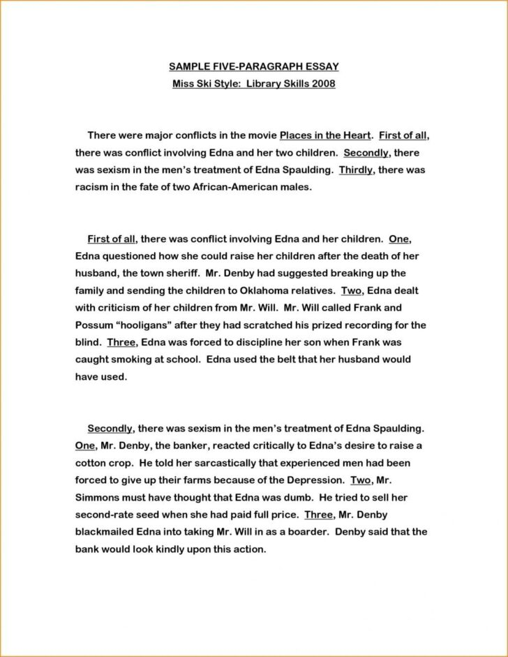 How To Write The First Paragraph Of An Essay