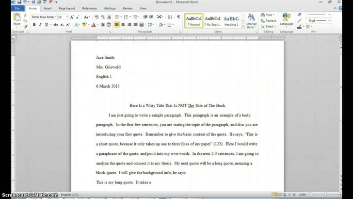 How To Start An Essay With A Quote Mla