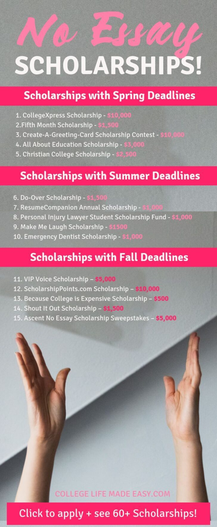 What Is The No Essay Scholarship