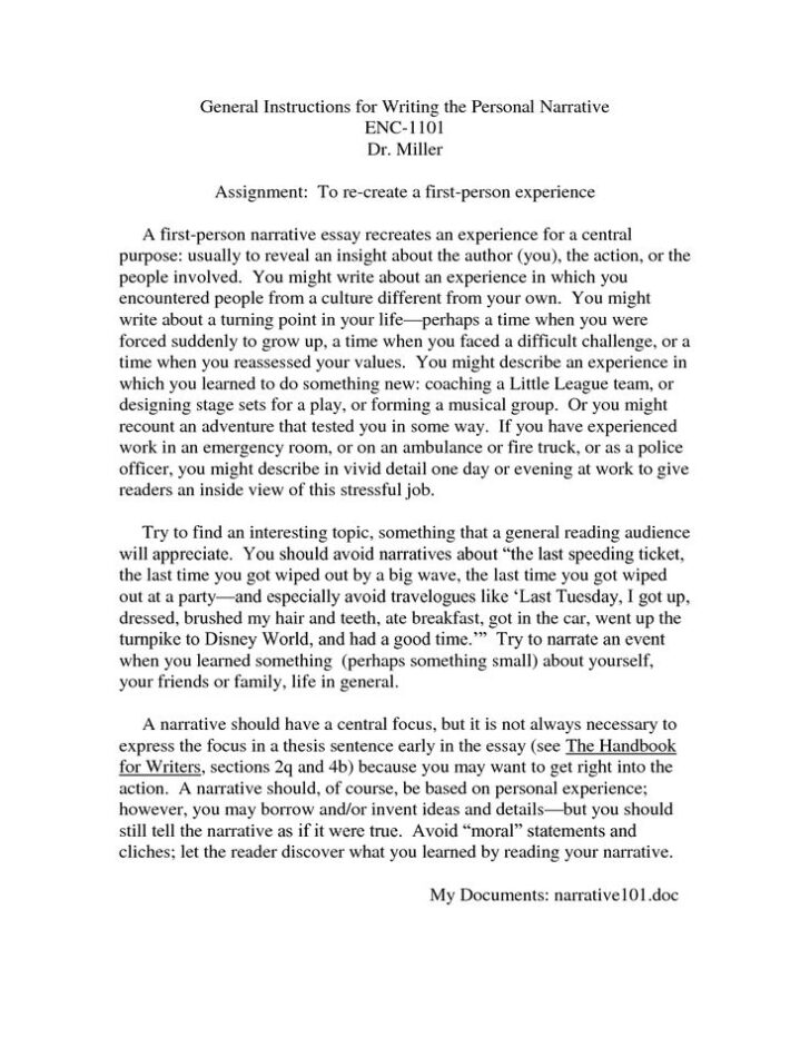 Essay About Life Experience
