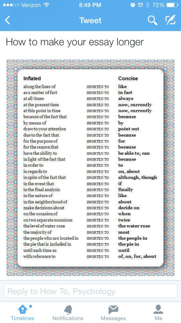 Words To Change Make An Essay Longer