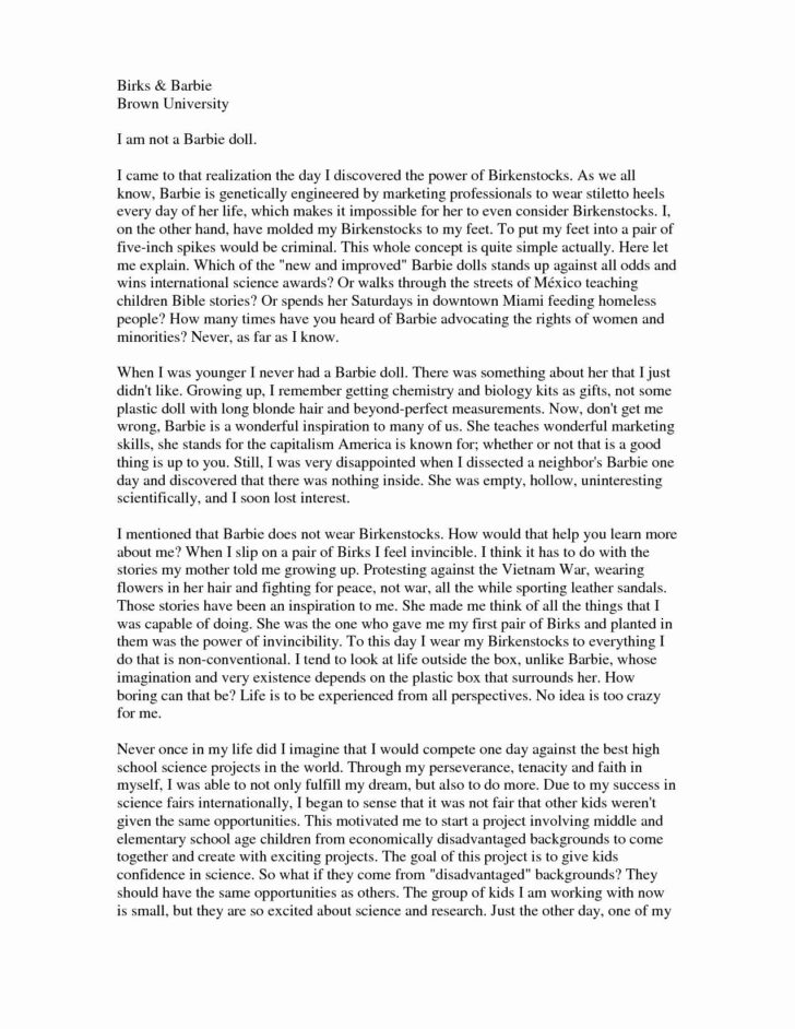 College Application Essay Heading Format
