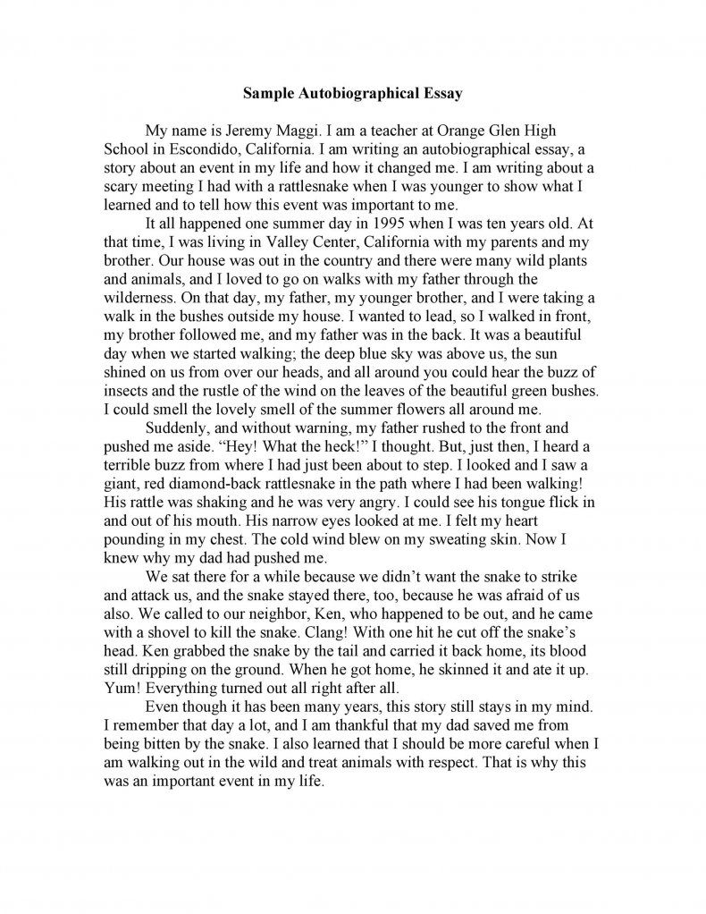 Full Size of Autobiography Essay About Myself Pdf