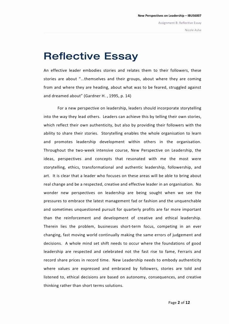 What Is A Thesis Statement In Reflective Essay
