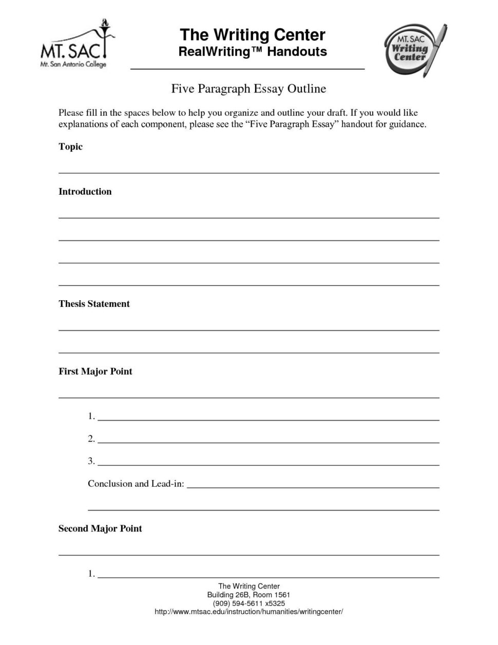 Large Size of 5 Paragraph Essay Outline Template Word