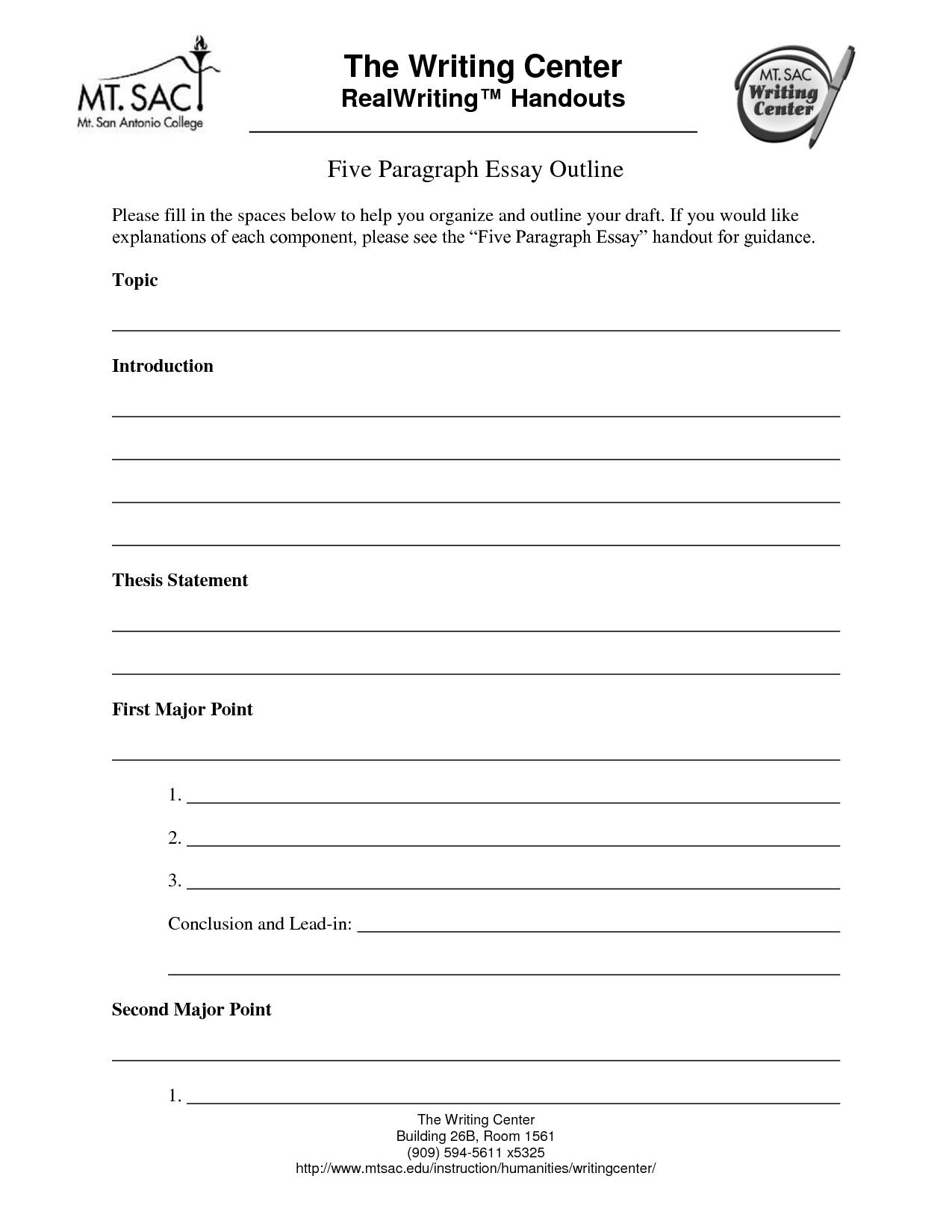 Full Size of 5 Paragraph Essay Outline Template Word