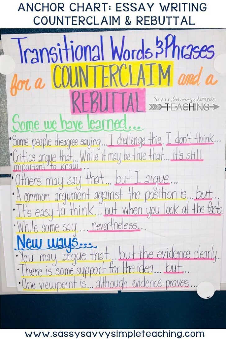 Model Argumentative Essay With Counterclaim And Rebuttal