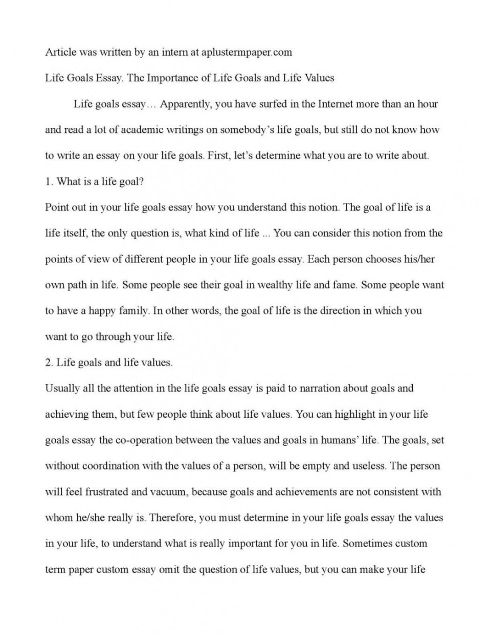 Full Size of Academic Goals Essay Examples Pdf Example On Educational And Career Exampl My Are Your