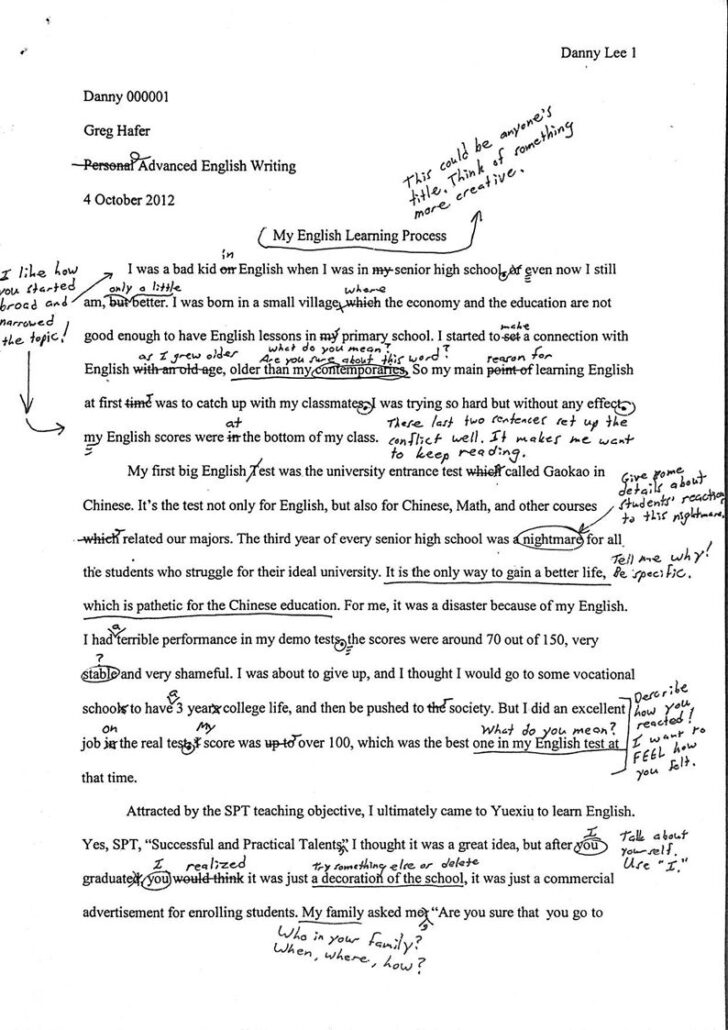 Peer Review Paper Example Essay