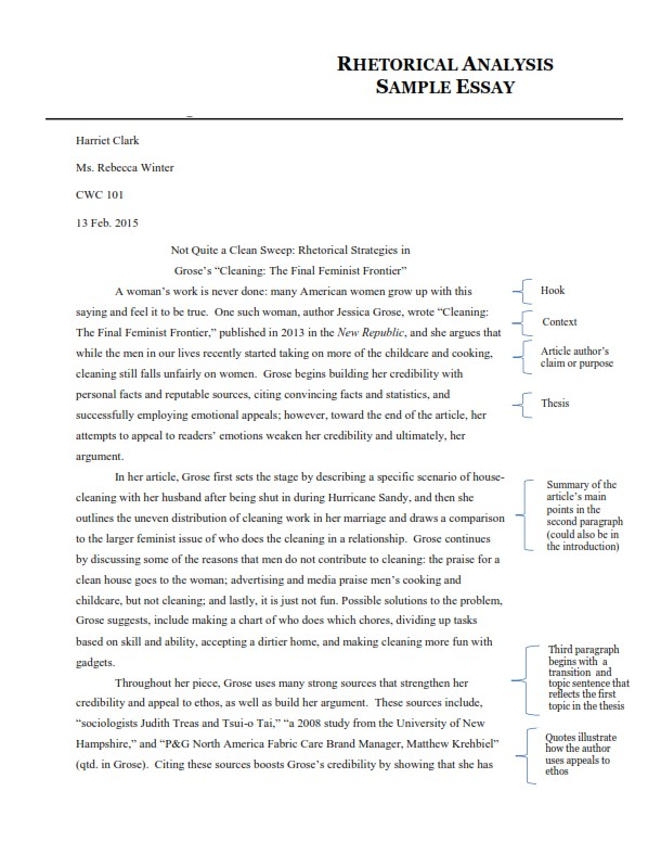Full Size of Analytical Essay Examples To Score Well In Academics Summary Example Rhetorical Analysis