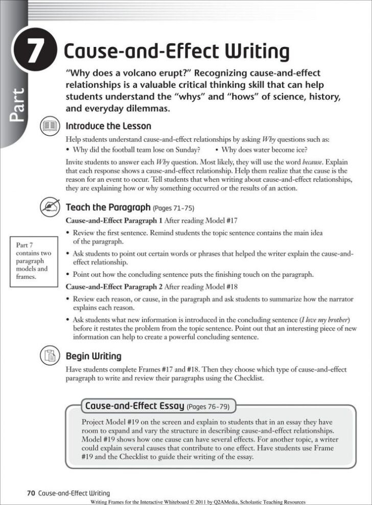 How To Write A Cause And Effect Essay Pdf