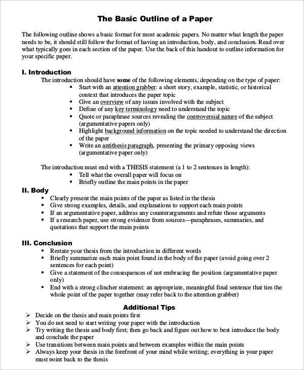Full Size of Basic Research Paper Outline Template Nursing Stuff Sample Essay Introduction Free Essays