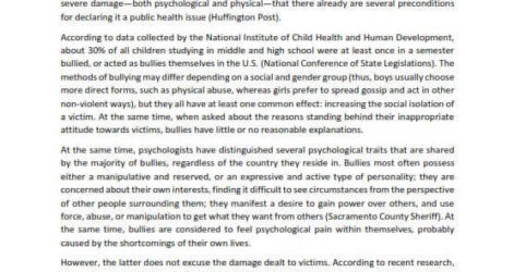Best Expository Essay Examples For Students Of All Levels Explanatory Example On Bullying