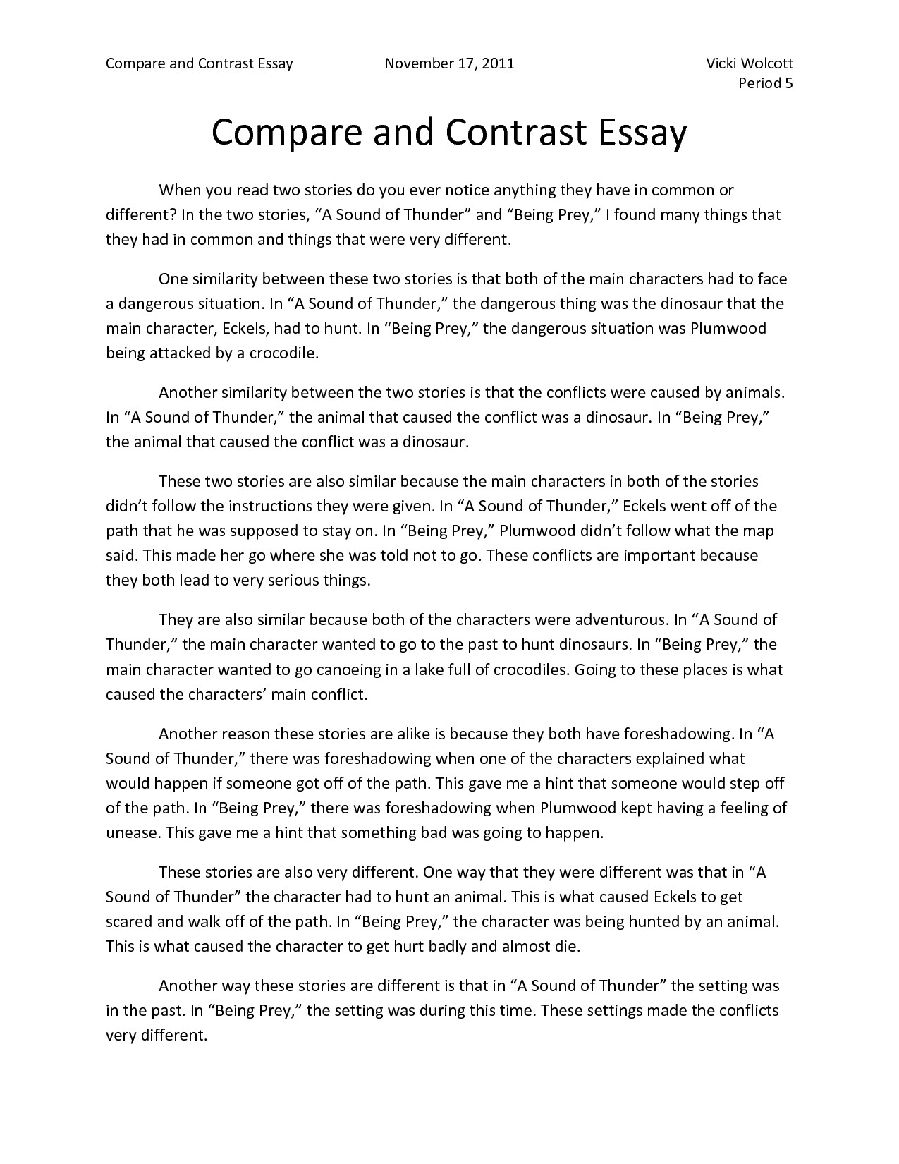 Full Size of Bestessay Compare And Contrast Essay Samples For College High School Exam Questions Free Examples