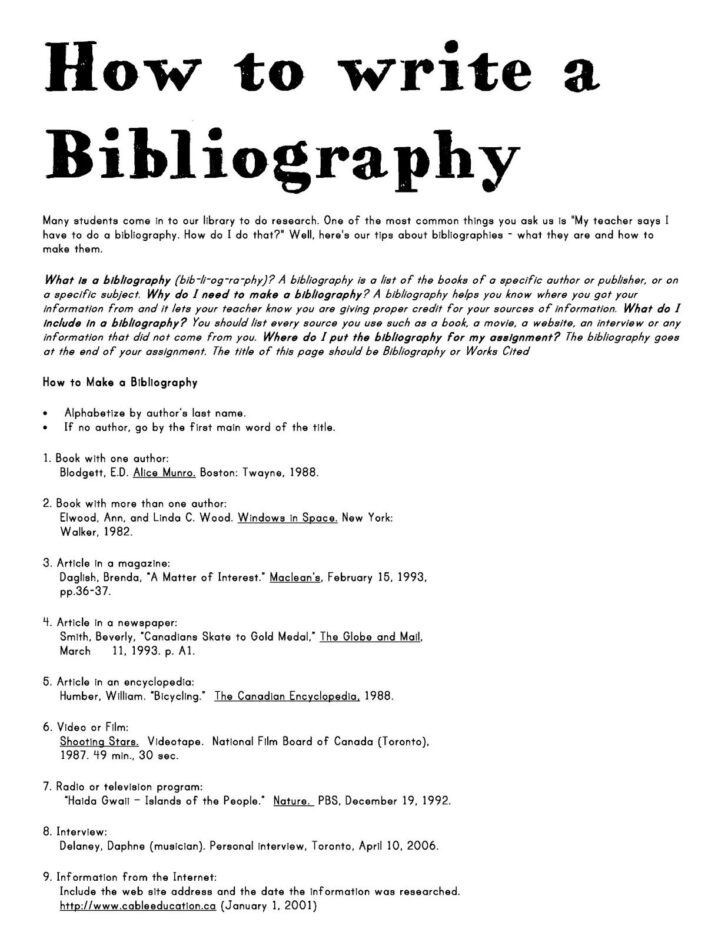 What Is Bibliographic Essay