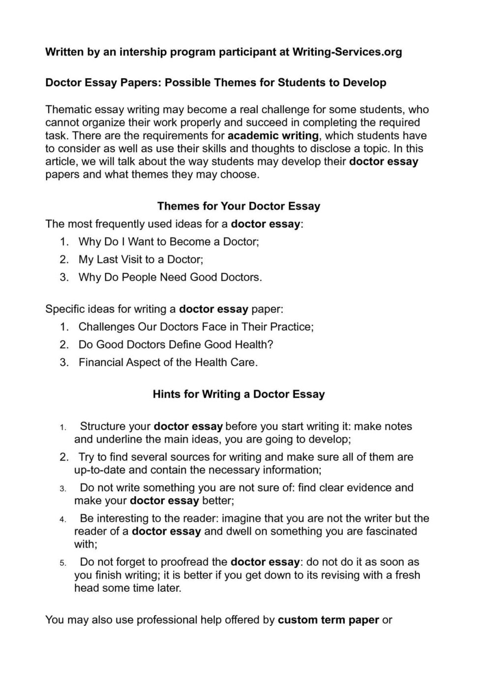 Large Size of Calaméo Doctor Essay Papers Possible Themes For Students To Develop Want Become P1 I A