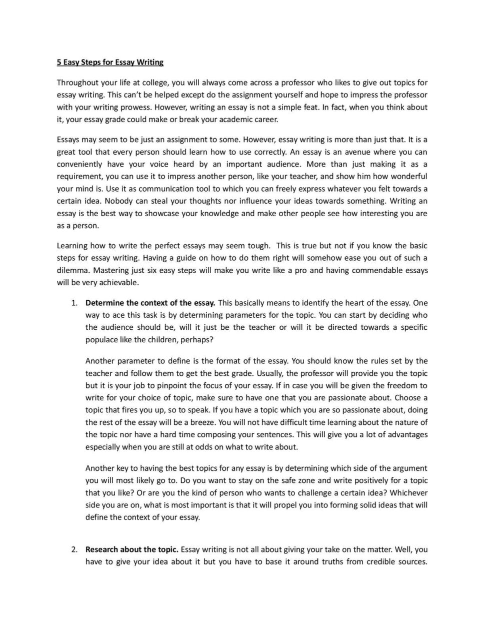 Large Size of Calaméo Easy Steps For Essay Writing Topic An P1 Parts Of Argumentative Freedom