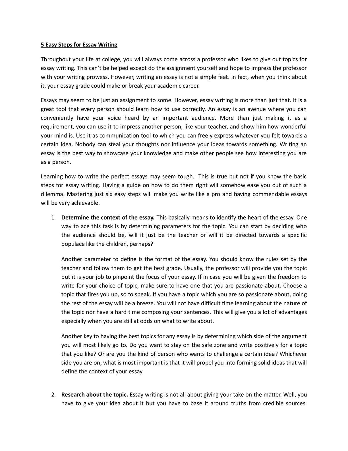 Full Size of Calaméo Easy Steps For Essay Writing Topic An P1 Parts Of Argumentative Freedom
