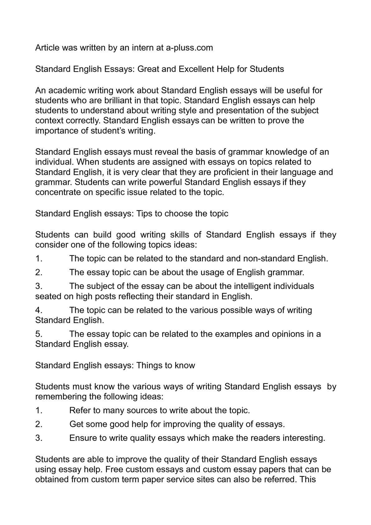 Full Size of Calaméo Standard English Essays Great And Excellent Help For Students Essay P1