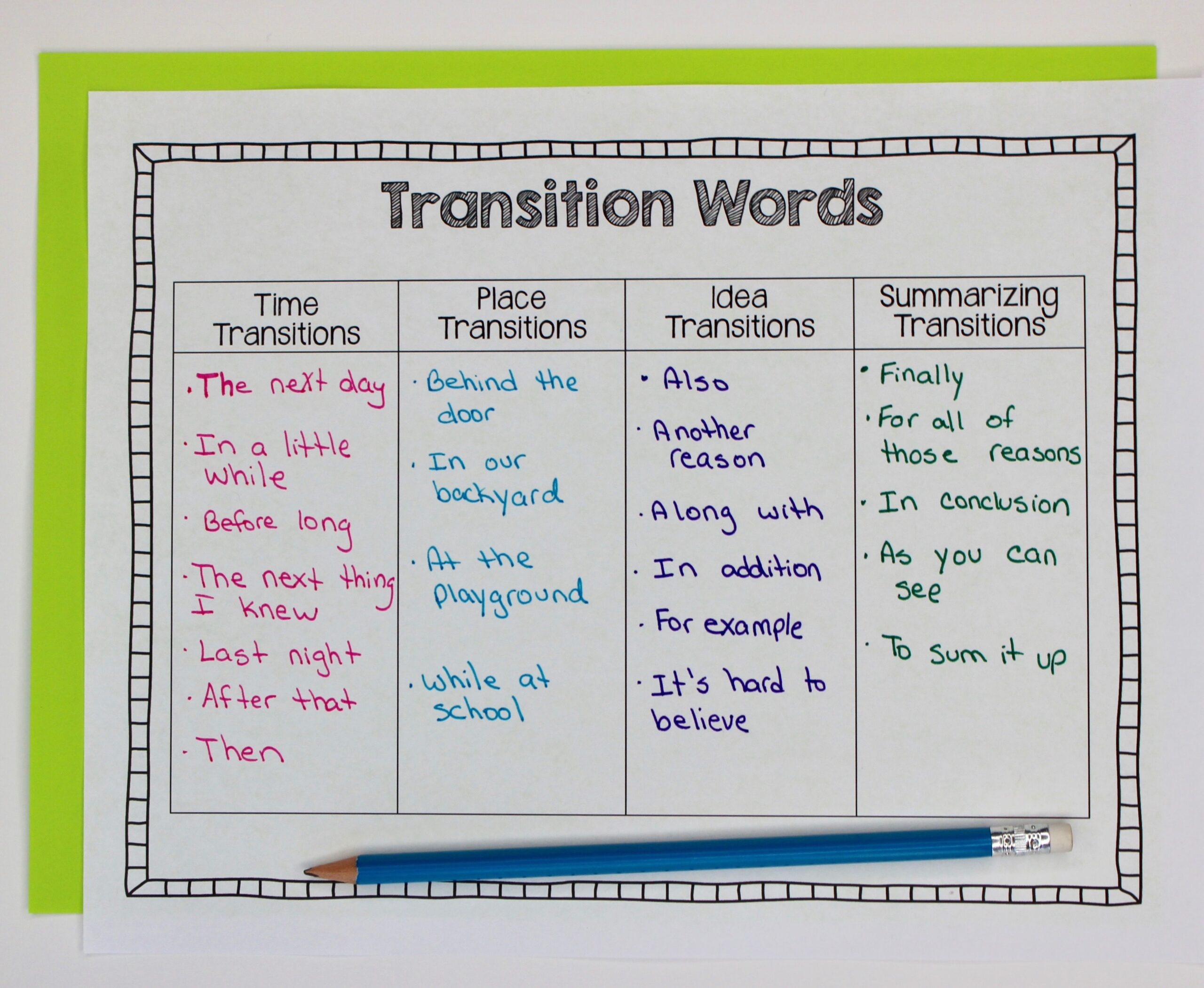 Full Size of Personal Narrative Essay Transition Words