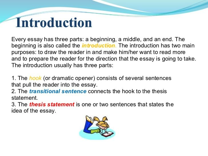 What Are The 5 Parts Of An Introduction Essay
