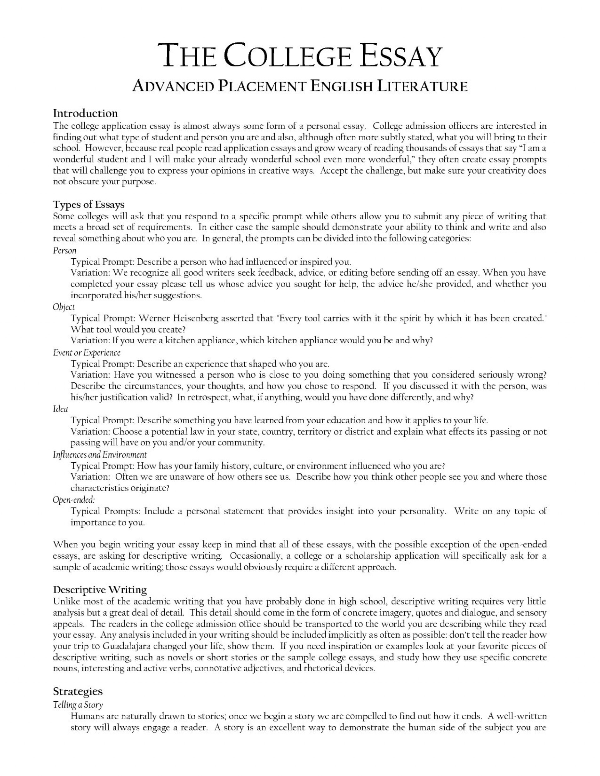 Full Size of College Admission Essay Prompts Samples Creative Example This Sample 1920x2485 Comparison