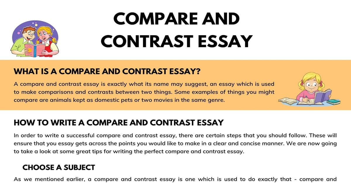 Full Size of Compare And Contrast Essay Definition Outline Useful Examples 7esl Biographical Example