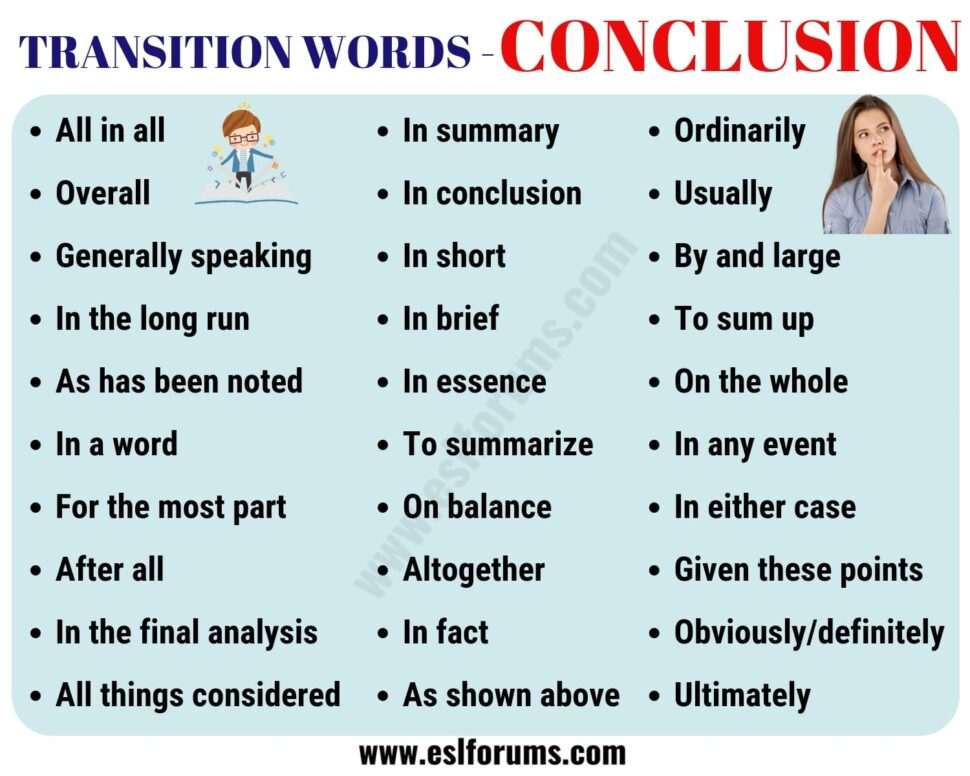 Large Size of Conclusion Transition Words Useful Examples Esl Forums Essay Compare And Contrast Example