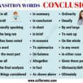 Thumbnail Size of Conclusion Transition Words Useful Examples Esl Forums Essay Transitions Narrative