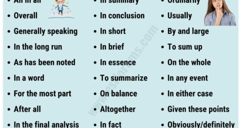 Conclusion Transition Words Useful Examples Esl Forums Essay Transitions Narrative