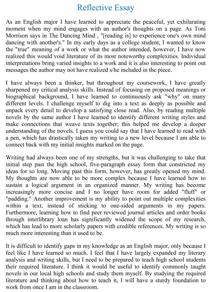 How To Write A Personal Background Essay