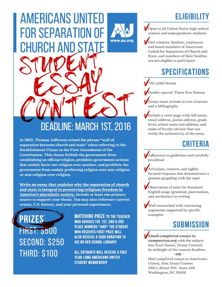 Full Size of High School Student Essay Contest
